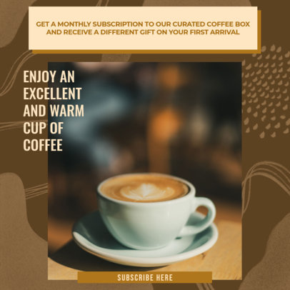 Instagram Post Creator for a Coffee House's Customer Loyalty Program Ad 3065b