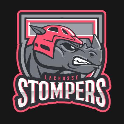 Logo Maker for a Hockey Team Featuring an Aggressive Rhino Graphic 1560q-2936