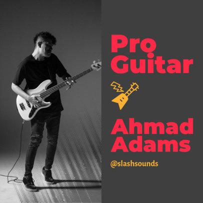 Instagram Post Design Template for a Pro Guitarist's Creative Portfolio 3068d