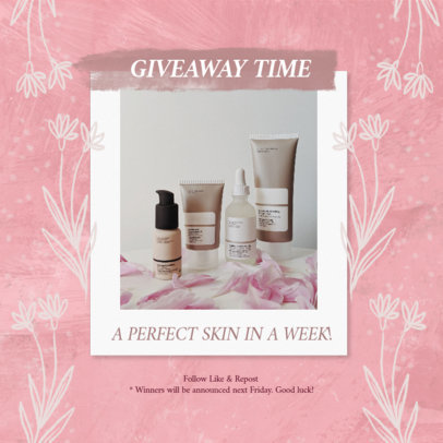 Instagram Post Template for MLM Companies Featuring a Skincare Giveaway 3066j