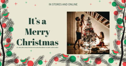 Facebook Post Creator for Christmas Sales Featuring a Cute Winter Layout 3089