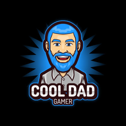 Logo Creator Featuring a Gamer Dad's Avatar 3120c-el1