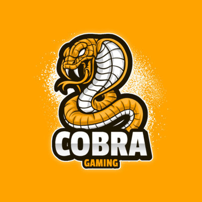 Gaming Logo Generator with a Graphic of a Cobra 3122a-el1