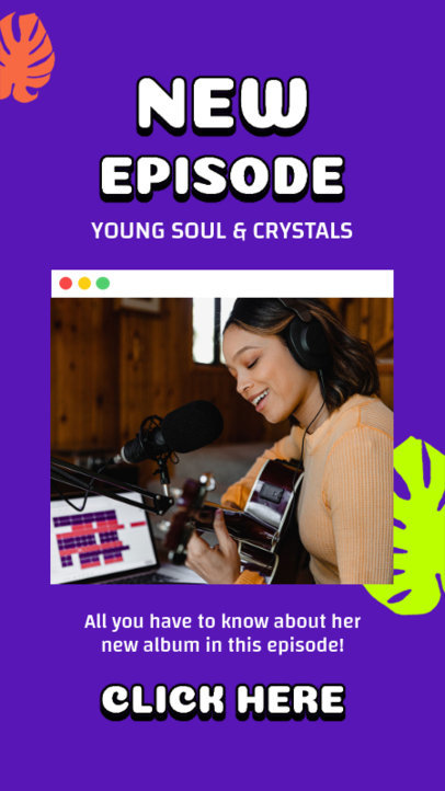 Instagram Story Design Generator for a Podcast About Upcoming Musicians 3068d-el1