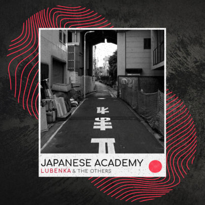 Album Cover Design Template for a Japanese Rock Band 3093G