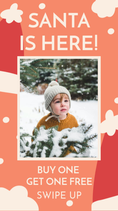 Instagram Story Generator for a Kids Apparel Christmas Promo 3085h