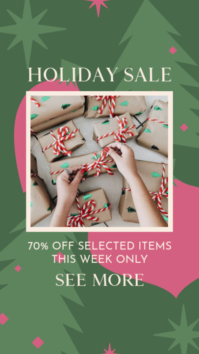 Instagram Story Creator for a Holiday-Themed Sale 3085g
