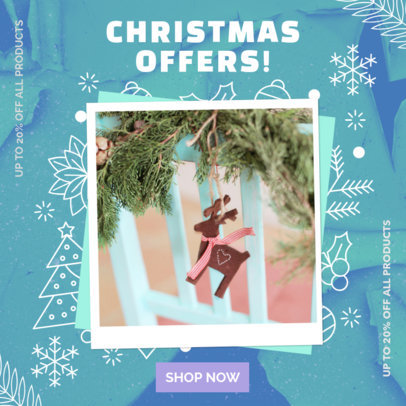 Instagram Post Creator Featuring Christmas Offers for a Clothing Store 3086h