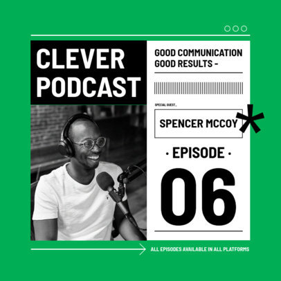 Instagram Post Design Template for a Self-Help Podcast 3070b-el1