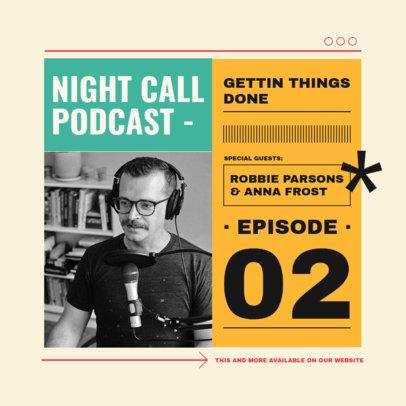 Instagram Post Design Generator for a Productivity Podcast 3070c-el1