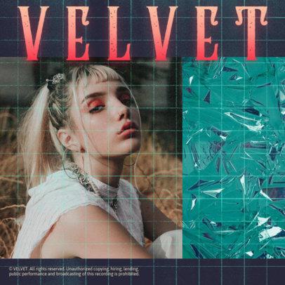 Album Cover Maker for an Electropop Singer 3094g