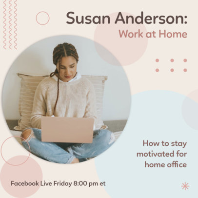 Instagram Post Creator for a Live Session of Home Office Tips 3091a