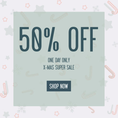 Ad Banner Maker for One-Day-Only Xmas Deals 3088h