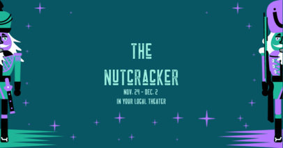 Facebook Post Template for a Nutcracker Show 3089f