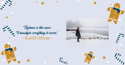 Customizable Facebook Post Maker Featuring a Cute Winter Layout 3089c