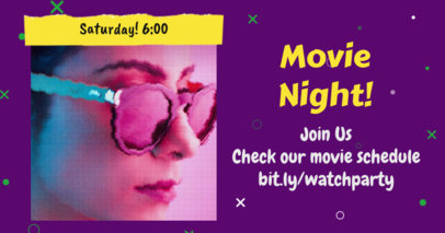 Facebook Post Template for a Virtual Movie Night 3096a