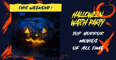 Facebook Post Design Maker for a Halloween Watch Party 3096c