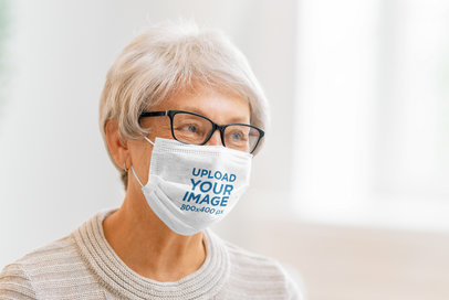 Face Mask Mockup Featuring a Kind Senior Woman 44595-r-el2