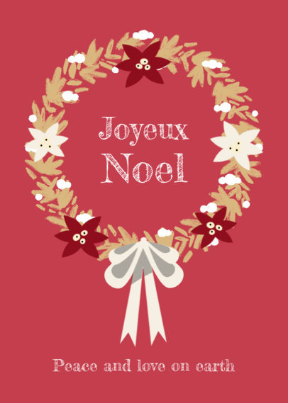 Greeting Card Design Maker to Wish a Joyful Christmas 3134e