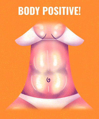 T-Shirt Design Creator with a Body-Positive Message and a Bikini Illustration 3135b