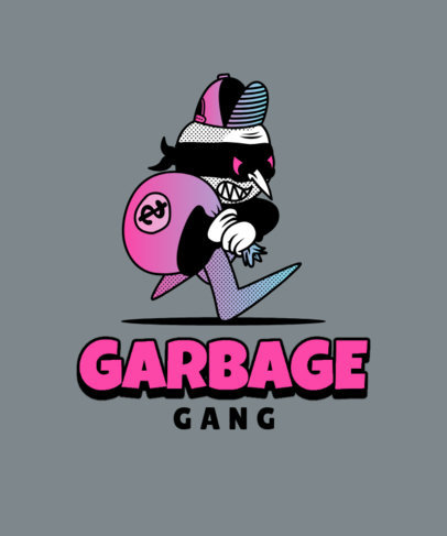 T-Shirt Design Generator Featuring a Robber Cartoon Character 3811b