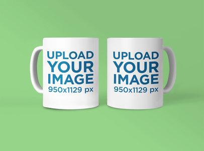 Mockup Featuring Two Customizable 11 oz Mugs 42373-r-el2