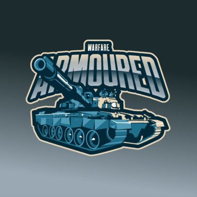 Gaming Logo Generator Featuring an Armored Tank Graphic 3819d