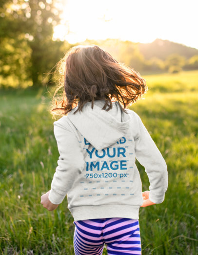 Back-View Hoodie Mockup of a Girl Running Through Nature 44467-r-el2