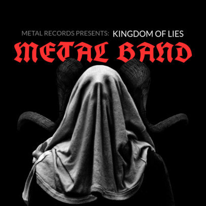 Heavy Metal Album Cover Maker Featuring Dark Illustrations 3146