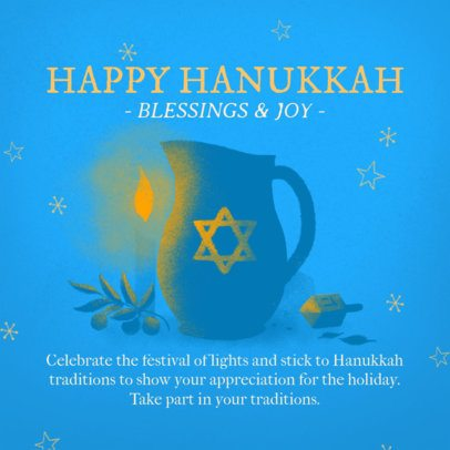 Instagram Post Template for a Happy Hanukkah Celebration 3153