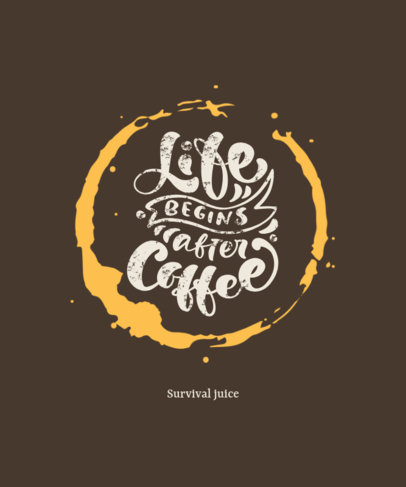 Online T-Shirt Design Maker with a Coffee Quote 3152b-el1