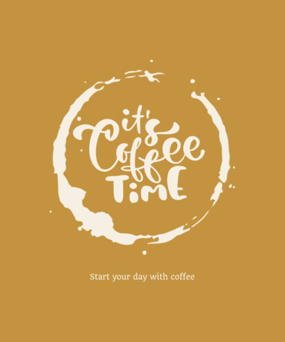 Customizable T-Shirt Design Maker Featuring a Quote About Coffee 3152e-el1