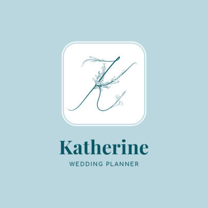 Logo Template for Wedding Planners Featuring Elegant Letters With Flowers 3148a-el1