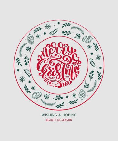 T-Shirt Design Maker Featuring a Merry Christmas Message and a Cute Ornamental Design 3154a-el1