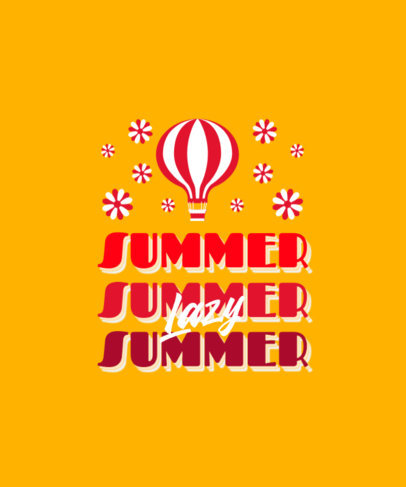 Retro T-Shirt Design Generator for Summer with a Hot Air Balloon Graphic 3150d