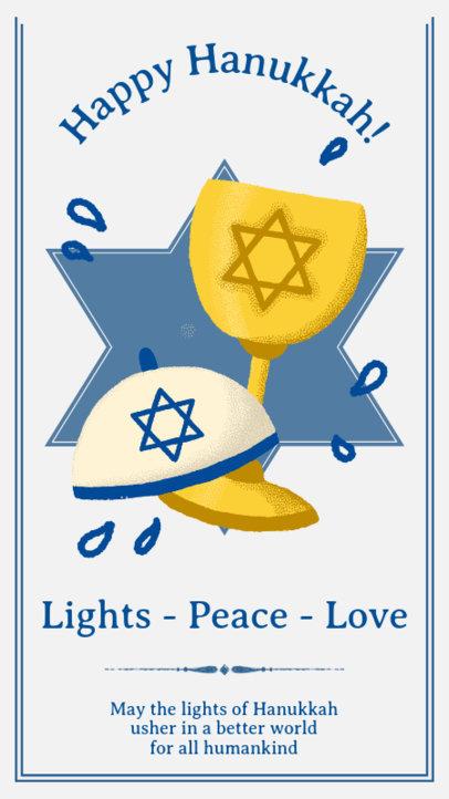 Instagram Story Generator for a Happy Hanukkah Wish 3152c