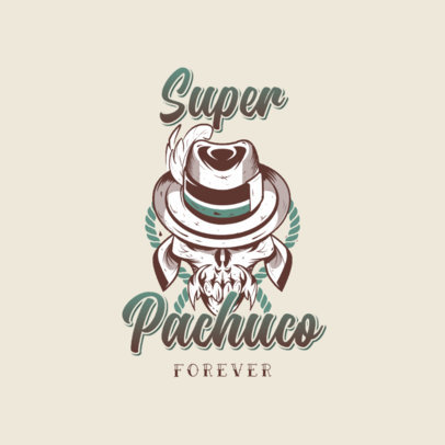 Logo Maker for a Clothing Brand Featuring a Skull with a Mexican-American Aesthetic 3840c