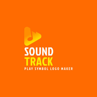 Logo Maker for a Soundtrack with a Play Symbol Graphic 3832f