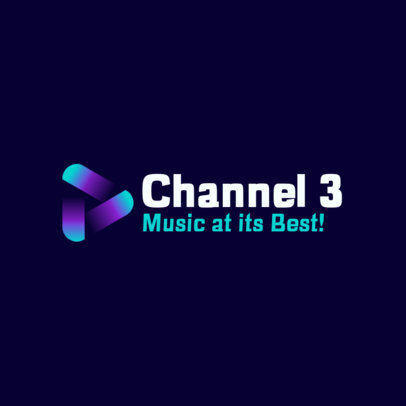 Abstract Logo Creator for a Music Channel 3833b