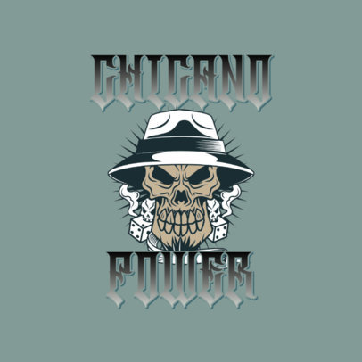 Streetwear Logo Maker Featuring a Skull With a Chicano Hat 3840j