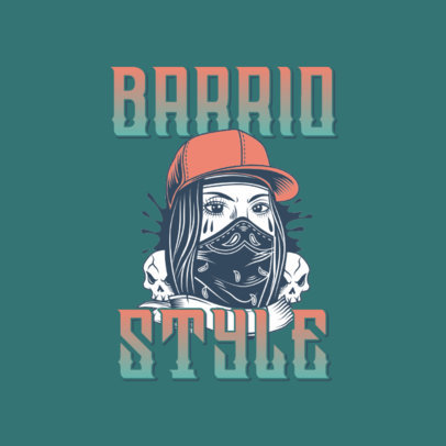 Logo Maker for a Clothing Brand with a Cholo Aesthetic 3840m