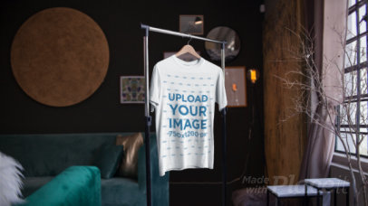 Parallax Video of a T-Shirt on a Hanger Inside a Nice Room 2511