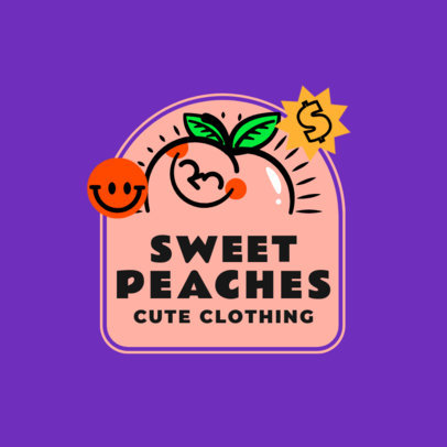 Kids Clothing Brand Logo Maker Featuring Fruit Illustrations 3849