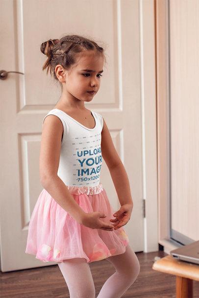 Tank Top Mockup Featuring a Little Ballerina 45117-r-el2