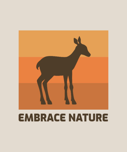 T-Shirt Design Maker for Nature Enthusiasts Featuring an Illustration of a Baby Deer 3187c-el1