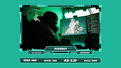 Twitch Overlay Generator Featuring a Gamer's Photo 3222d-el1
