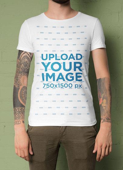 T-Shirt Mockup Featuring Tattooed Arms 45016-r-el2