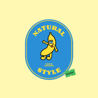 Logo Generator for a Clothing Brand Featuring a Banana Graphic 3850b