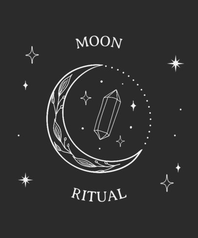 Magic T-Shirt Design Template Featuring a Beautiful Moon Graphic 3232b-el1