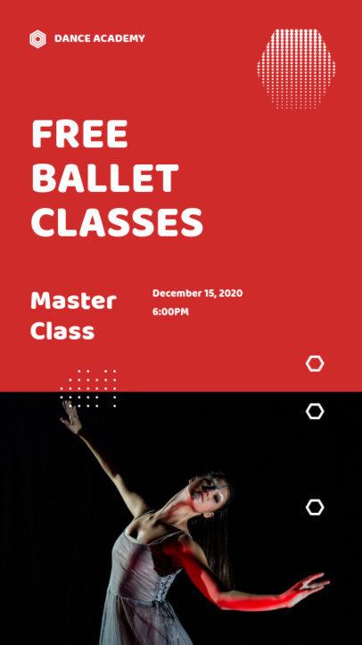 Modern Instagram Story Design Maker for a Free Ballet Class 3240a-el1